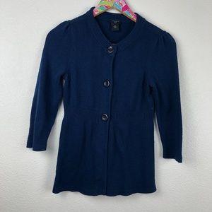 Blue Ann Taylor cardigan size Petite S